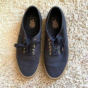 Mens Vans Low Top Skate Shoes Black Gold 10.5